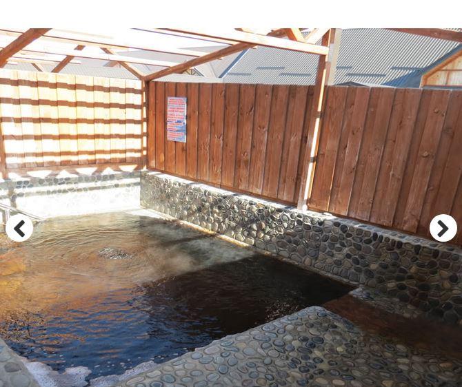 Кабинки и дворики термальных источников Гедуко