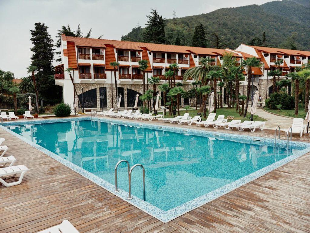 Отель Абаата в Гагре, Абхазия