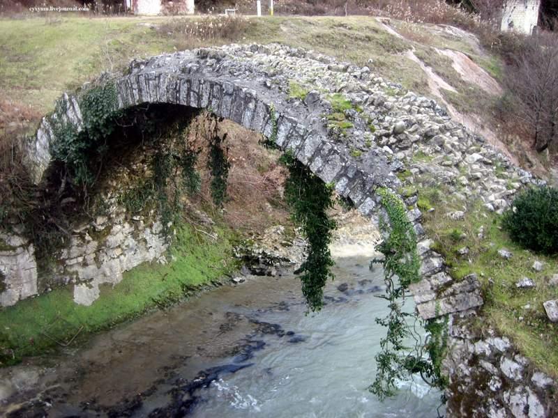 Река Беслетка и Беслетский мост в Абхазии
