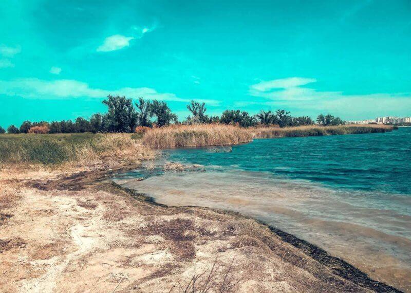 Мойнакское озеро, лечебные грязи в Евпатории